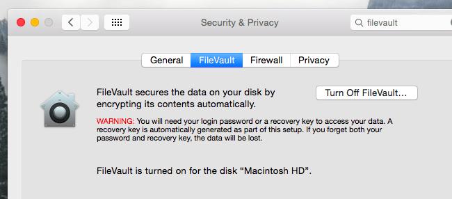 تاثیر غیرفعال کردن رمزگذاری دیسک FileVault در افزایش سرعت مک