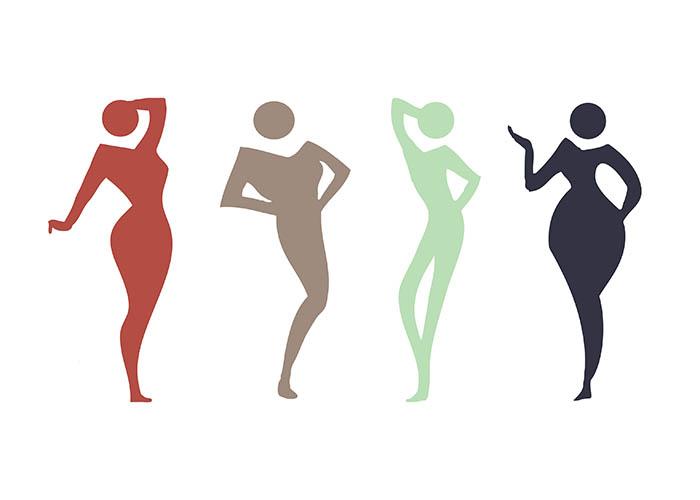 انواع فرم اندام زنانه