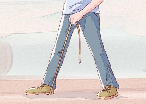 اندازه گیری قد داخلی و خارجی شلوار