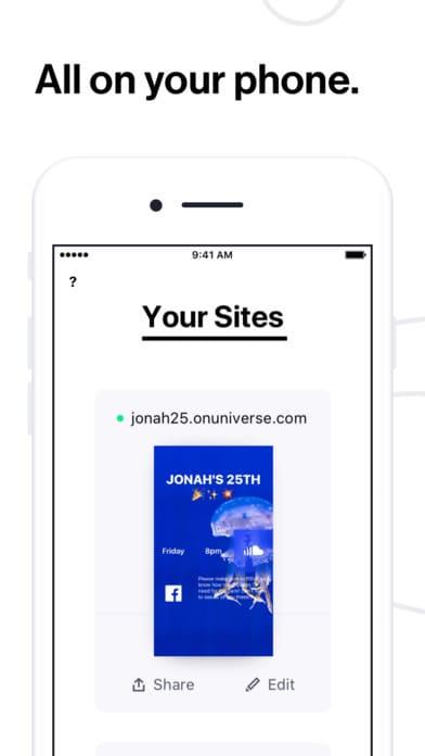 طراحی سایت با اپلیکیشن Universe