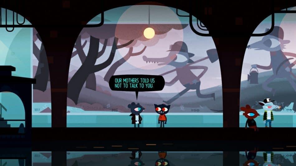 در بازی شبی در جنگل ، زنی جوان که Mae نام دارد ، تصمیم می گیرد که دانشگاه را رها کند