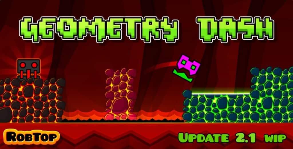 Geometry Dash یکی از بازی های زیبای RobTop Games می باشد