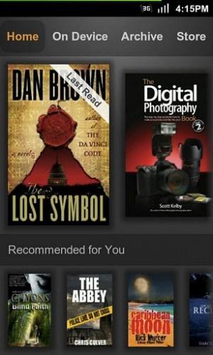 اپلیکیشن Kindle (بهترین اپلیکیشن های کتاب خوان)