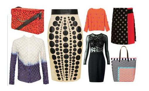 نقطه از عناصر بصری مهم در طراحی لباس