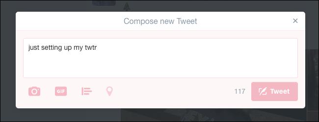 نوشتن توئیت جدید با استفاده از میانبرهای کیبورد توئیتر