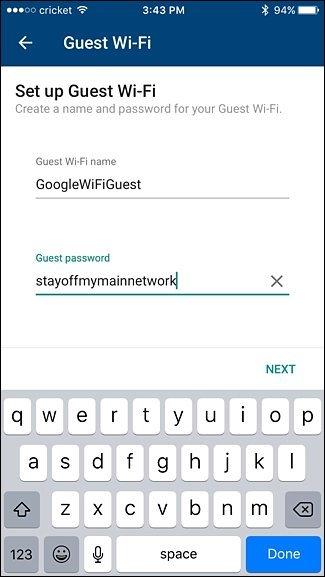 نحوه ایجاد شبکه WiFi مهمان بر روی سیستم WiFi گوگل