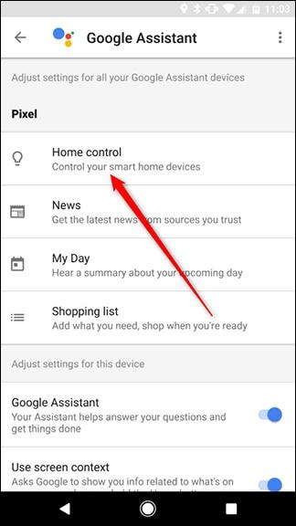 کنترل دستگاههای خانه هوشمند با دستیار گوگل