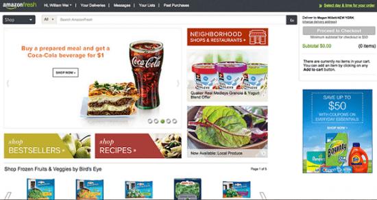 فروشگاه مواد غذایی آنلاین آمازون