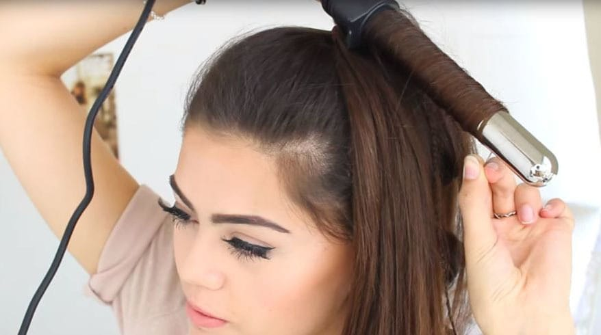 برای فرکردن موها ابزار حرارتی را ده ثانیه نگه دارید
