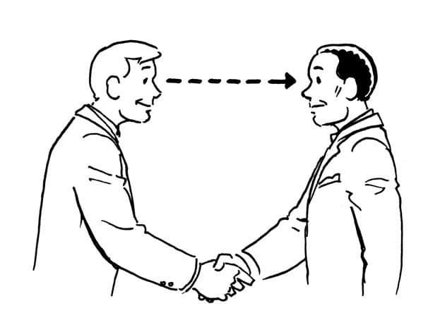 برای این که یک مرد موفق به نظر برسید ارتباط چشمی برقرار کنید