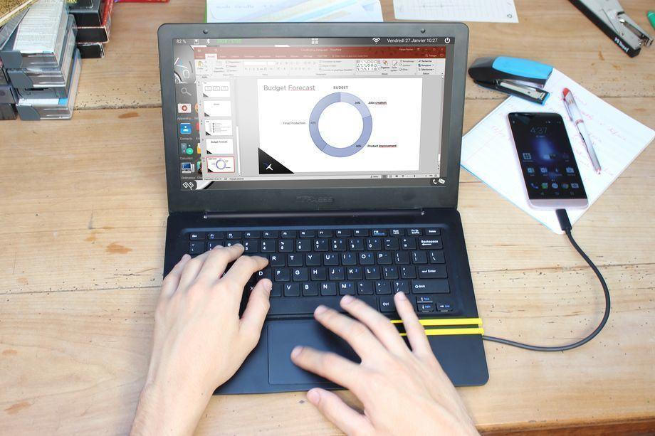 لپ تاپ میرابوک برای تبدیل تلفن همراه به لپ تاپ