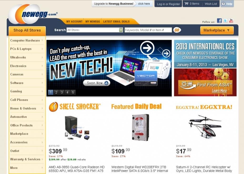 فروشگاه اینترنتی Newegg و تصمیمات جدید آن در سال ۲۰۱۷
