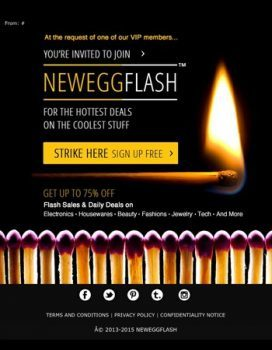 یک سایت تخفیفی خارجی به نام NeweggFlash