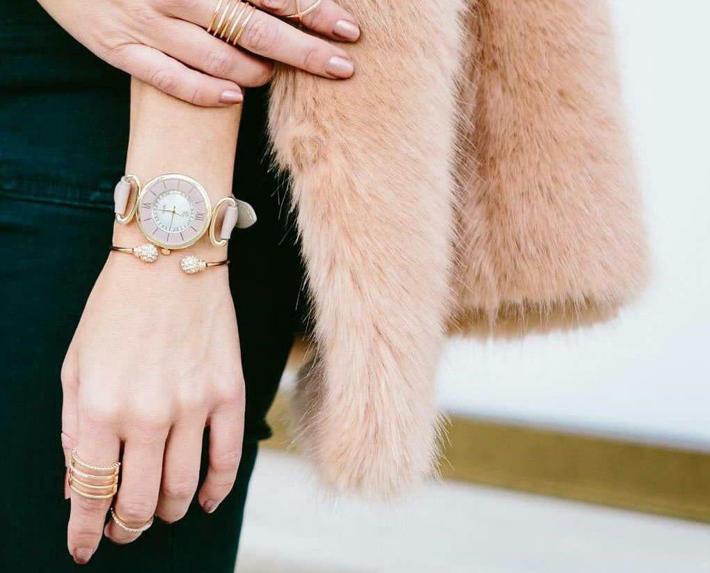 ترکیب جواهرات و ساعت مچی
