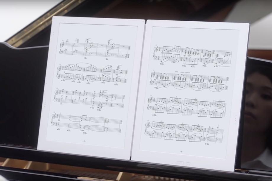 جیویدو (Gvido) : تبلتی با دو صفحه نمایش و جوهر E Ink برای نمایش نتهای موسیقی