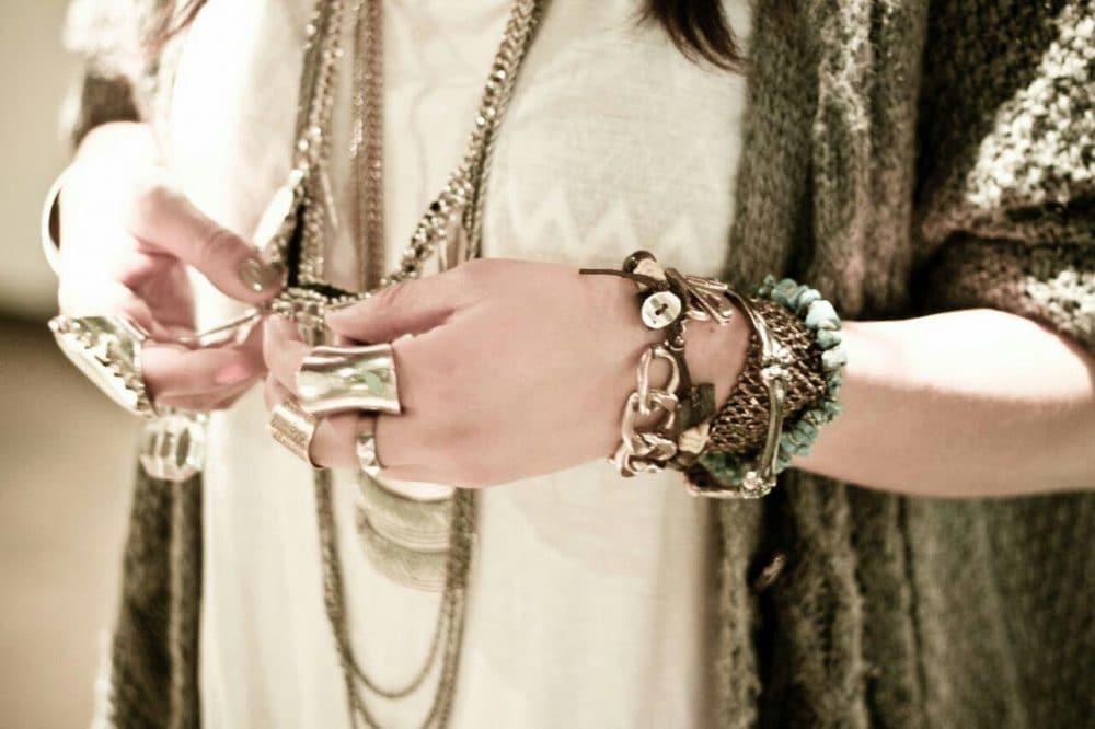 ترکیب جواهرات و گردنبند