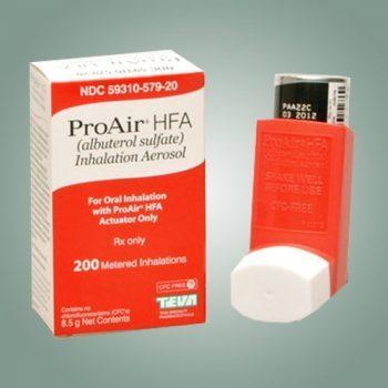 میزان رایج مصرف آلبوترول در بیماران آسم