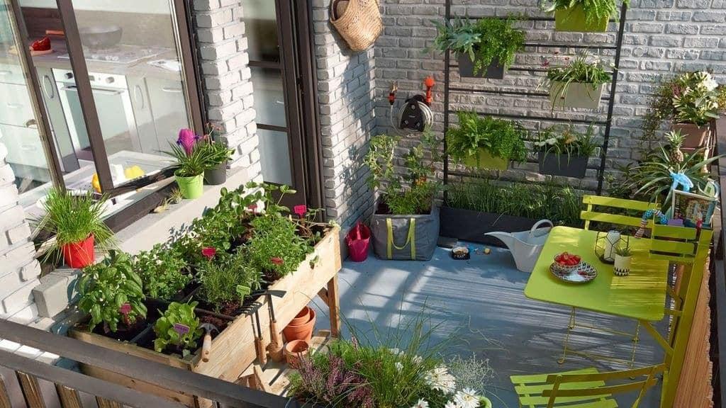 باغبانی فوت مربع در بالکن