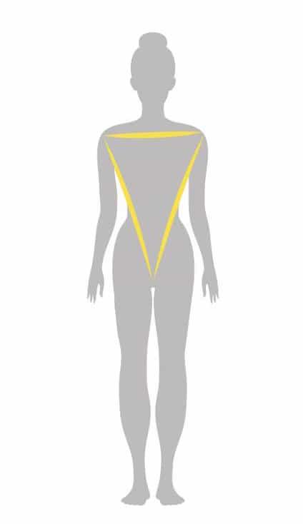 فرم اندام مثلث معکوس