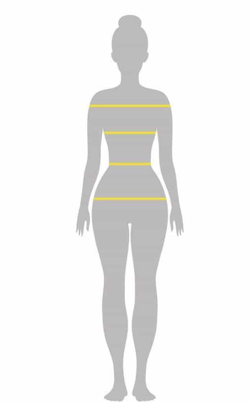 ابعاد افقی در فرم اندام