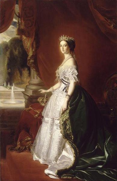 ملکه اوزنی فرانسه در لباس با چارلز فردریک ورث