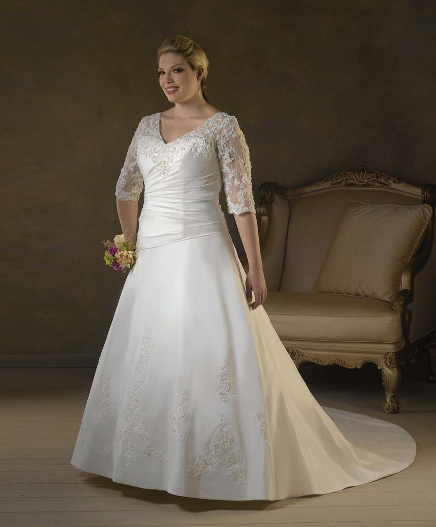 مدل لباس عروس سایزبزرگ