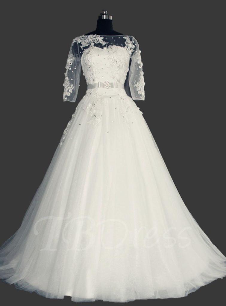 آستین لباس عروس سایزبزرگ