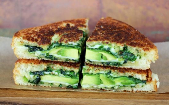 ساندویچ های گیاهی سبزیجات تازه