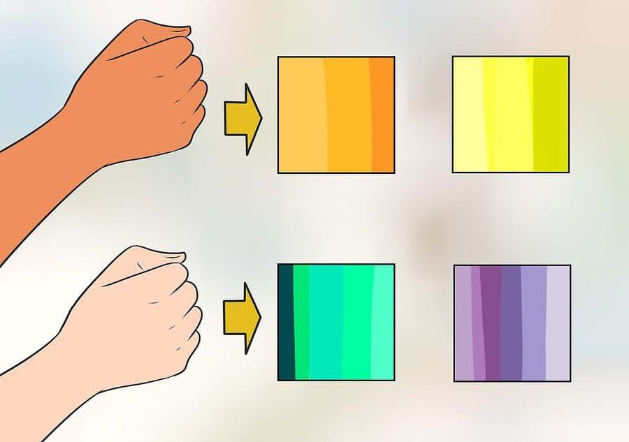ترکیب رنگ بر اساس تیرگی و روشنی
