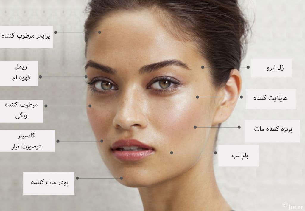 راهنمای تصویری آرایش طبیعی و ملایم