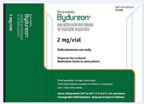 داروی اکسناتید هر هفت روز یک بار مصرف می شود.