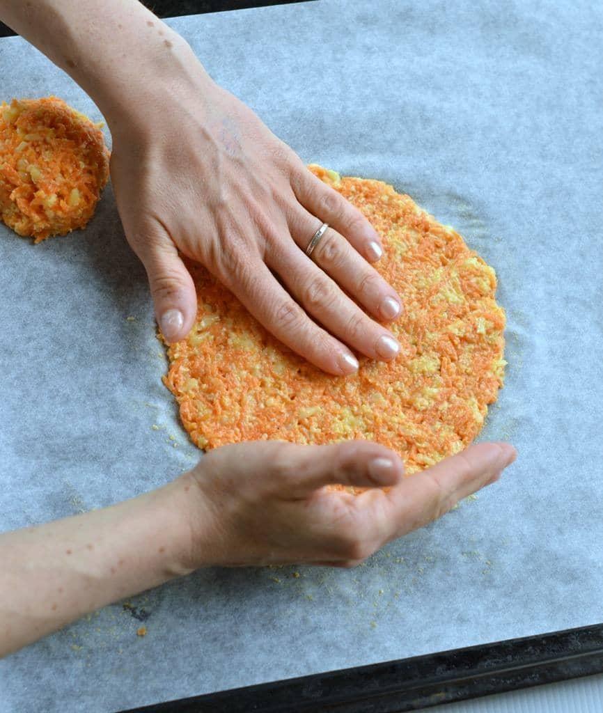 نان تاکوی هویج نان کم کربوهیدرات
