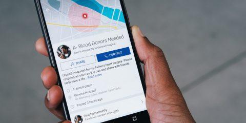 فیسبوک و تسهیل فرآیند اهدای خون