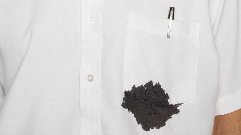 پاک کردن لکه جوهر و خودکار