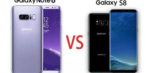 مقایسه گوشی Galaxy S8