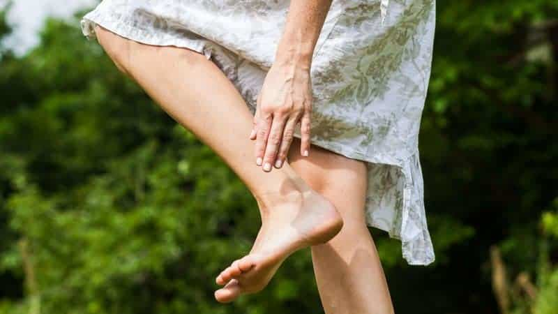 صدمه بر اثر عفونت به پا و تورم پا