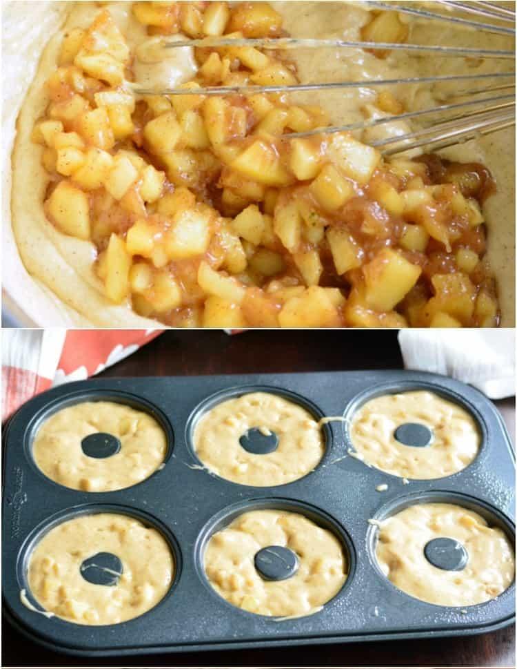 طرز تهیه دونات پای سیب