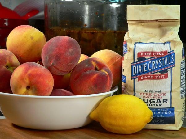 مواد لازم برای مربای هلو