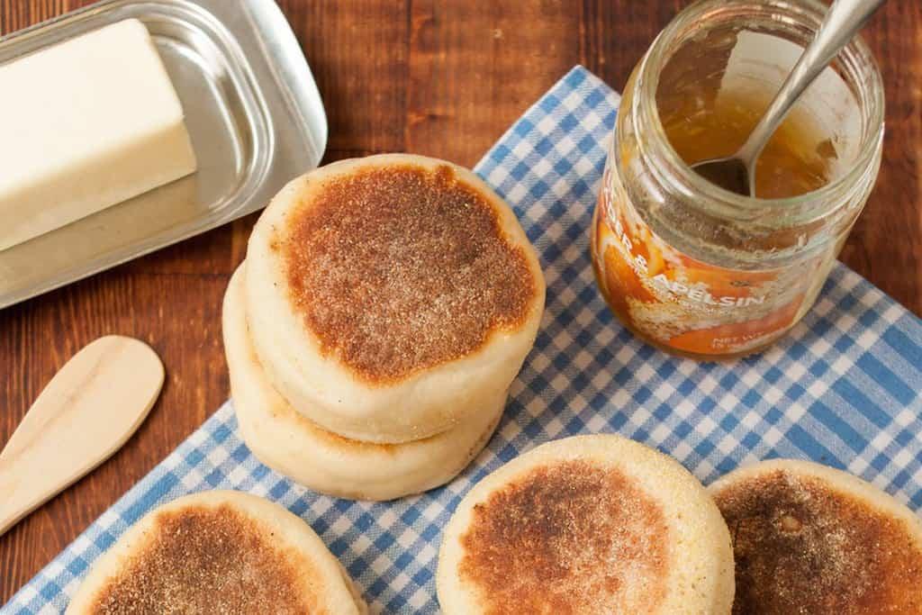 نان مافین انگلیسی ؛ نان مافین صبحانه و بدون نیاز به فر