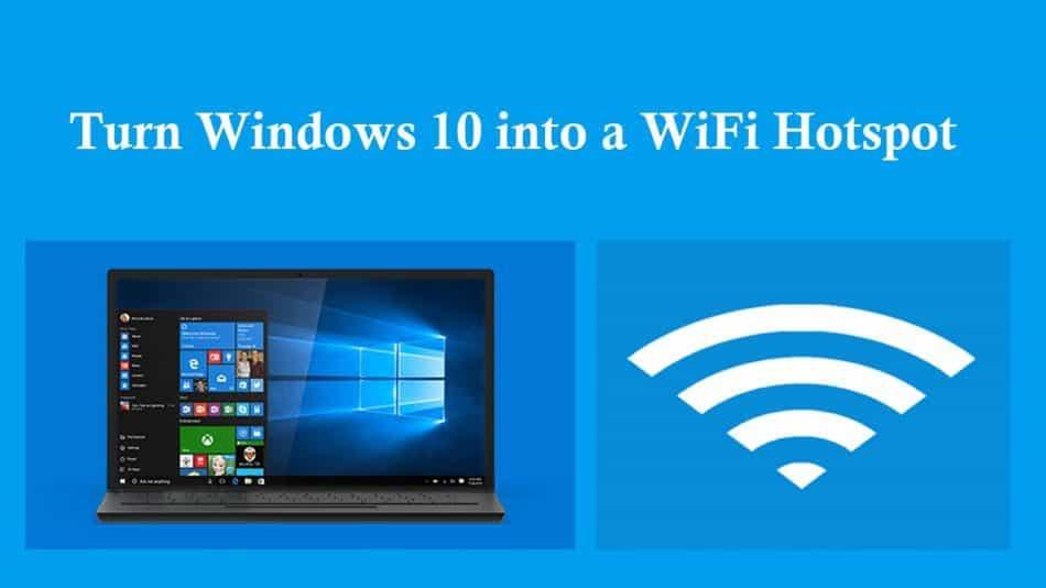 تبدیل ویندوز 10 به هات اسپات وای فای
