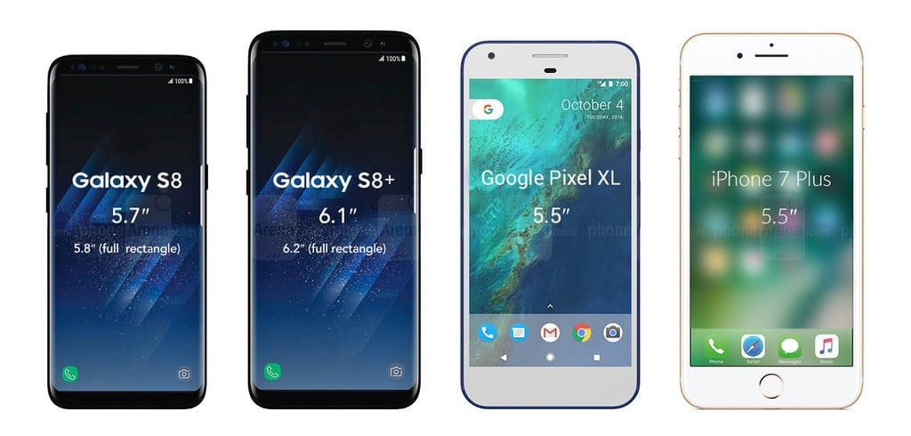 مقایسه گوشی Pixel 2 گوگل با دو گوشی iPhone 8 اپل و Galaxy S8 سامسونگ