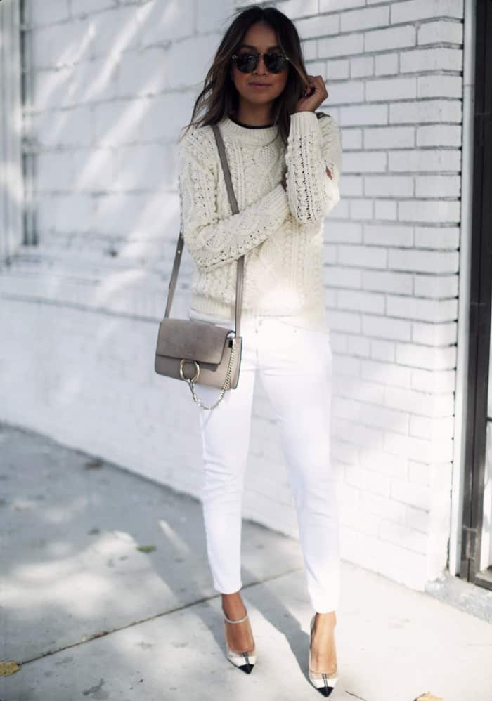 شلوار جین سفید زنانه
