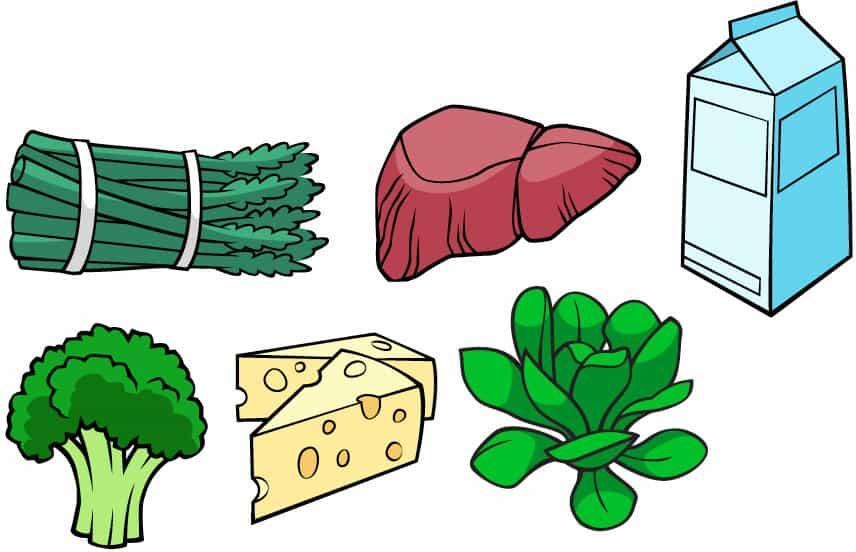 منابع غنی از ویتامین B2