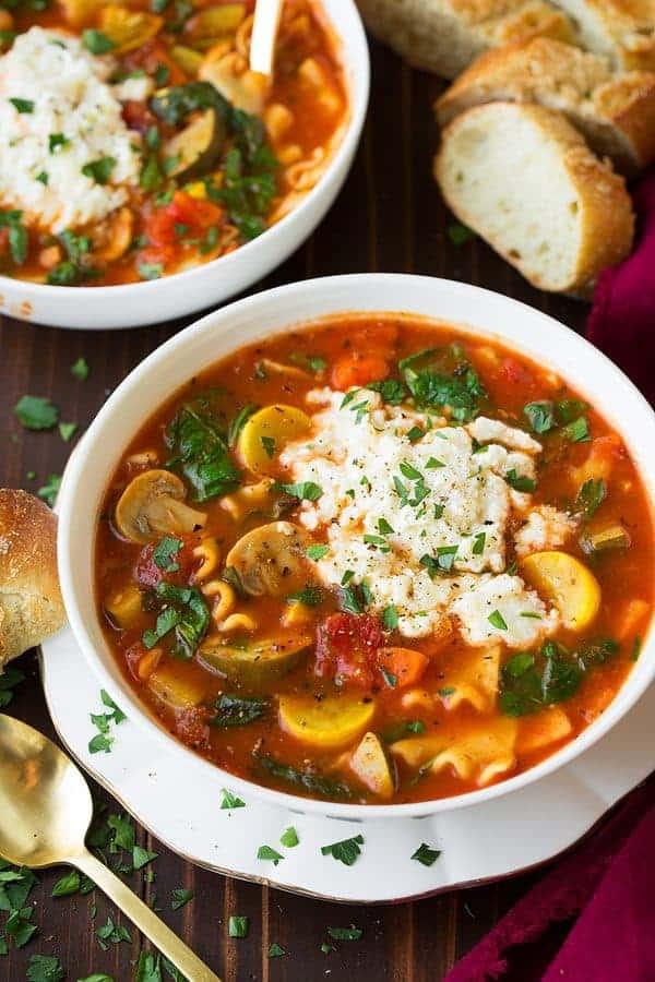 سوپ لازانیای سبزیجات