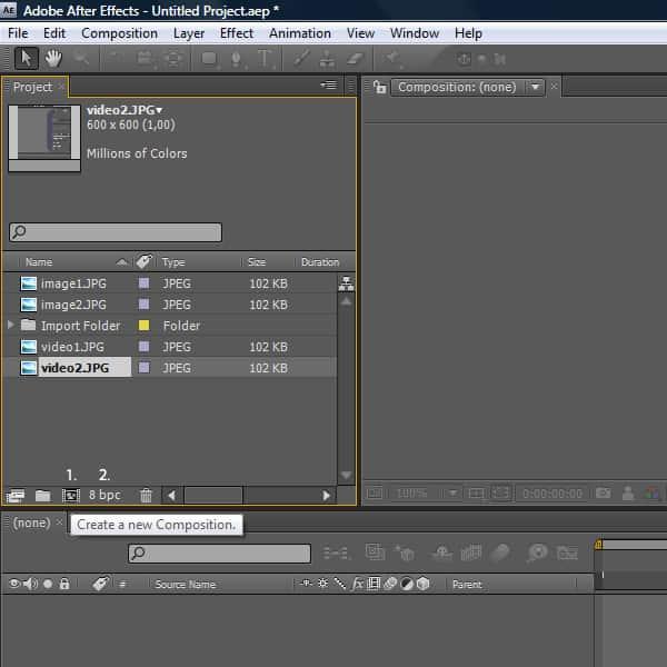 بعد از فراخوانی فایل های مورد نیاز به داخل محیط نرم افزار، یک طرح را ایجاد مینمائیم.