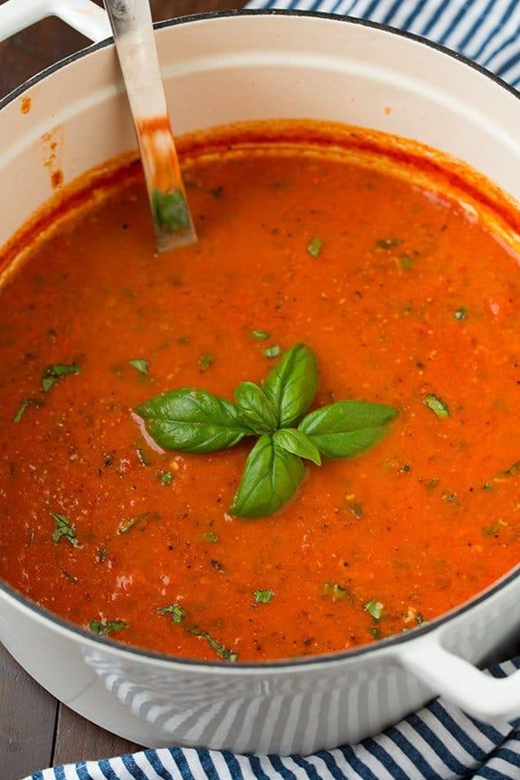 سوپ گوجه برشته