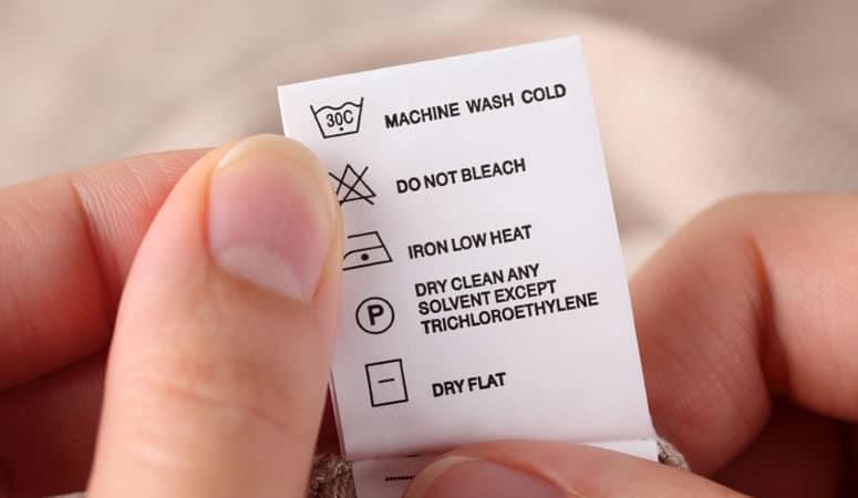 نشانههای درج شده روی برچسب مراقبتی لباس چه معنایی دارند؟