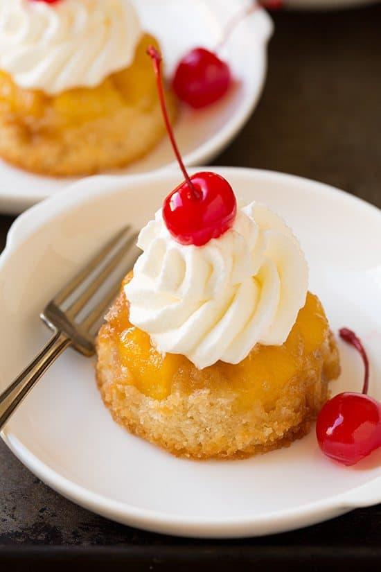 کاپ کیک آناناس وارونه