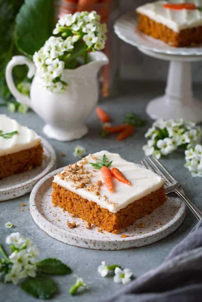 کیک هویج تختهای