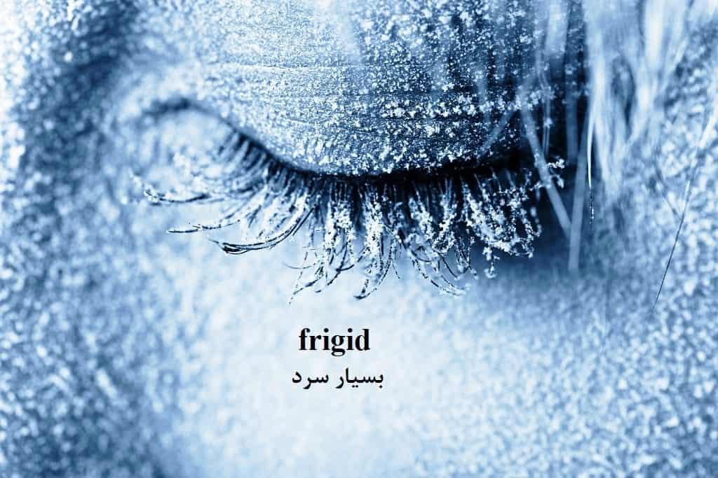 frigid = سرد، یخ/ زن سرد مزاج